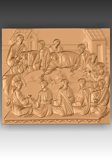 Direct link to the 3d model of the Last Supper