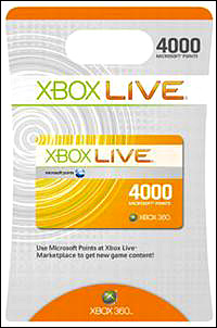 Хбокс 4000 points Xbox Live (USA)