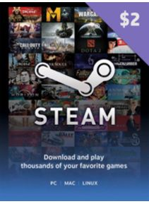STEAM WALLET GIFT CARD $2 | GLOBAL | CD-KEY | СКИДКИ