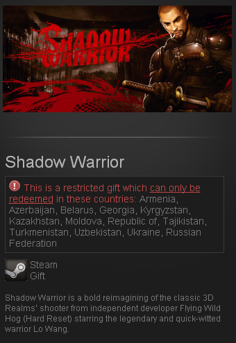 Shadow Warrior (Steam key/global)