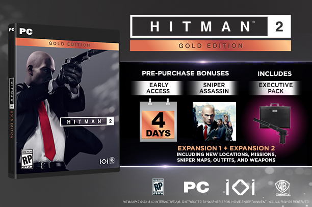 HITMAN 2 - Gold Edition (Steam Key)RU+CIS