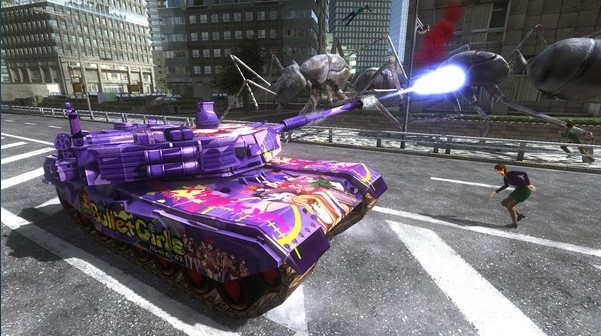 EARTH DEFENSE FORCE 4.1 Gigantus Tank, Bullet Girls Mar