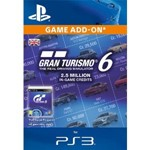 Gran Turismo 6: 2.5 Million Credits PS3 Key(DLC)