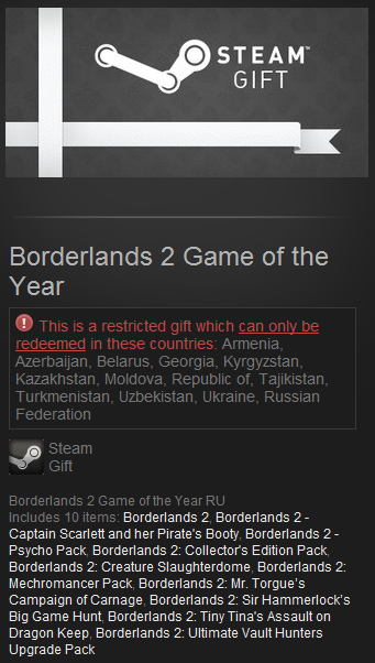 Borderlands 2 Game of the Year - Steam Gift RU/CIS