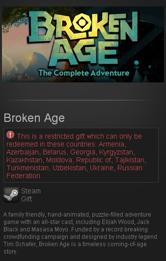 Broken Age STEAM GIFT RU/CIS
