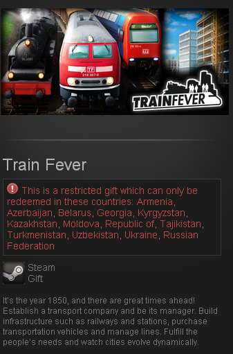 Train Fever STEAM GIFT RU/CIS