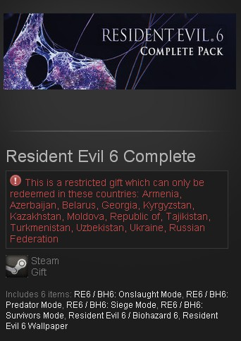 Resident Evil 6 Complete STEAM GIFT RU/CIS