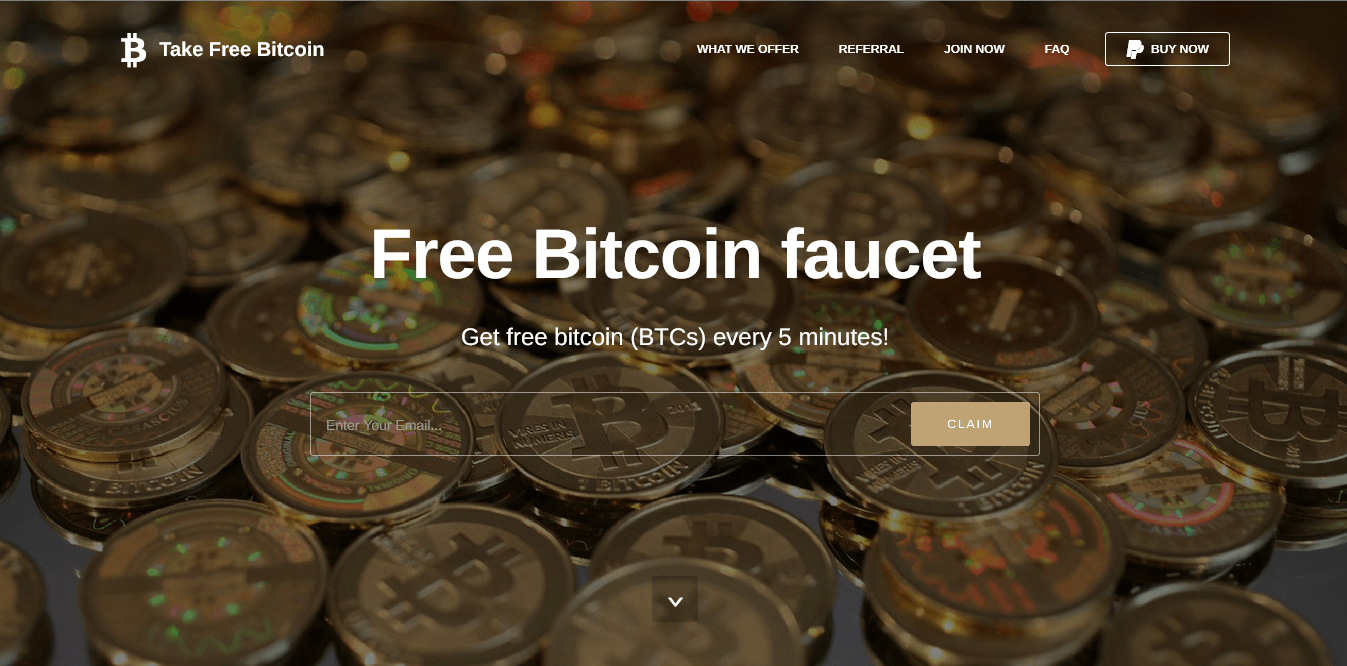 FREE BITCOIN LANDING PAGE