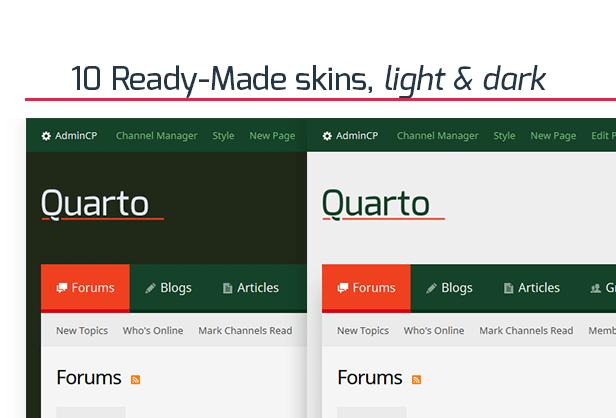 Buy Premium theme / template Quarto - vBulletin and download