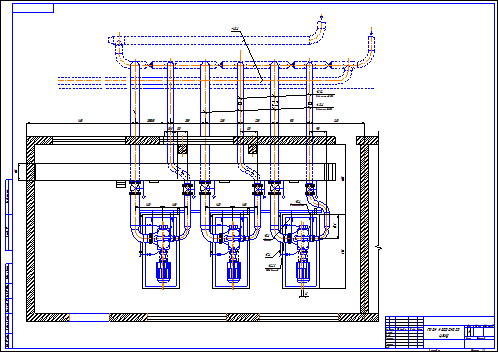 Schematic of the pumping plant of main pump station