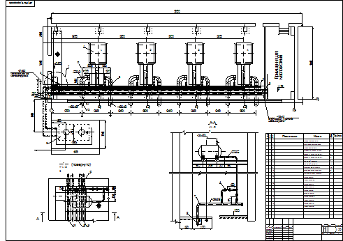 "Schematic of the pipeline pump station ""Karpaty"""