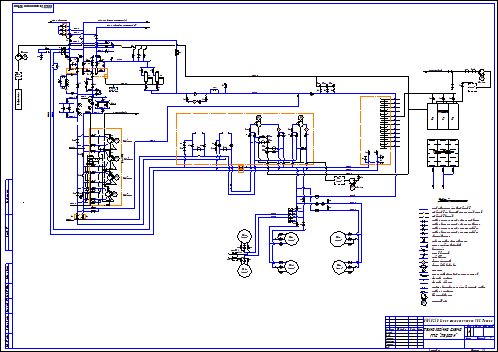 Techn. schematic of the gas pipeline compressor station