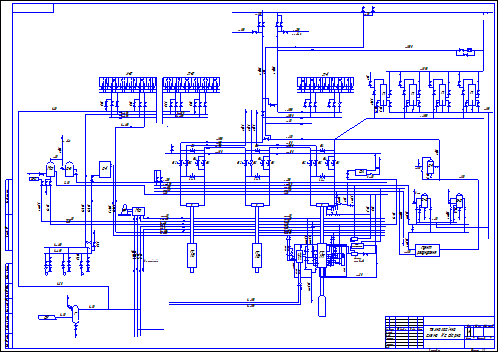 Schematic of the gas pipeline compressor station