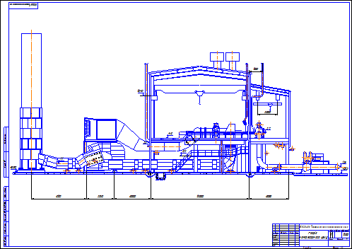 Drawing - compressor yard (cross section)