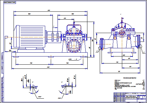 Buy Drawing centrifugal pump ANCN-E 800-80 w motor VAO2-450 and download