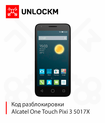 Unlock Alcatel One Touch Pixi 3 5017X Beeline code