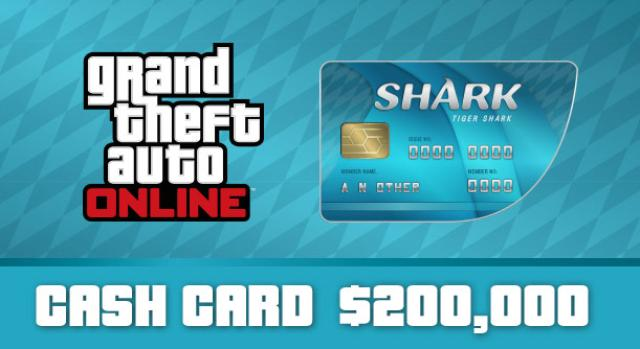 Grand Theft Auto Online: Tiger Shark Cash Card $ 200,00