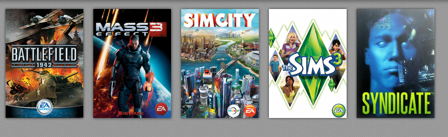 Sims 3 (many DLCs)+ Mass effect 3 +(secret answer)