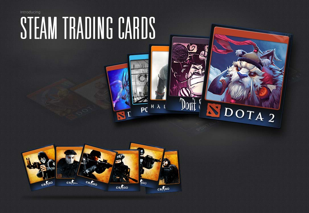 A set of cards Steam + 100 XP | Steam trading cards