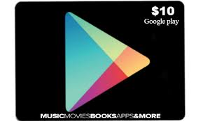 10$ Google Play Gift Card (US) SCAN