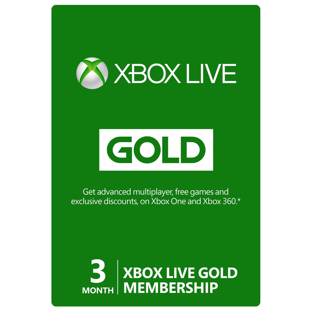 XBox Live Gold - 3 Month (all countries EU / RU / US)