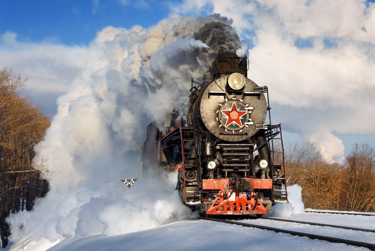 Открытки с локомотивом, днем рождения