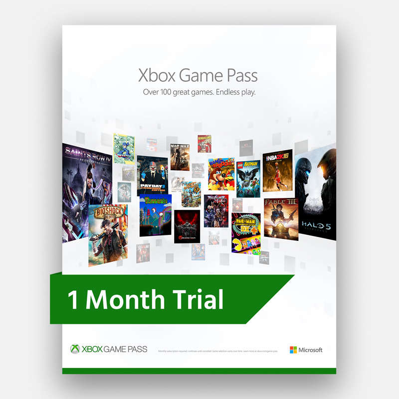 Xbox Game Pass 1 month ( Free region / Trial ) 2019