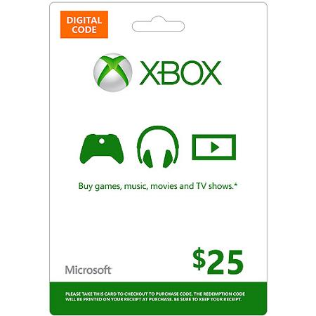 25$ US XBox Gift Card - gift card for commet!