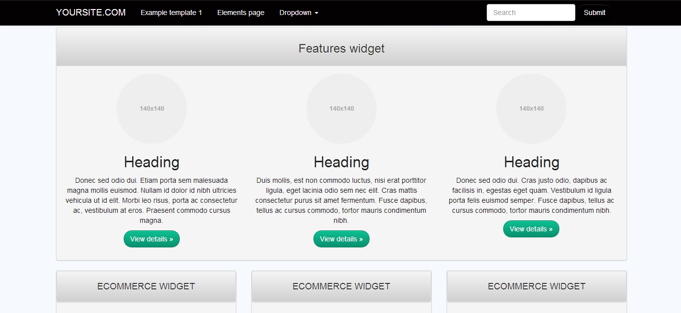 Bootstrap 3 Template - Black White