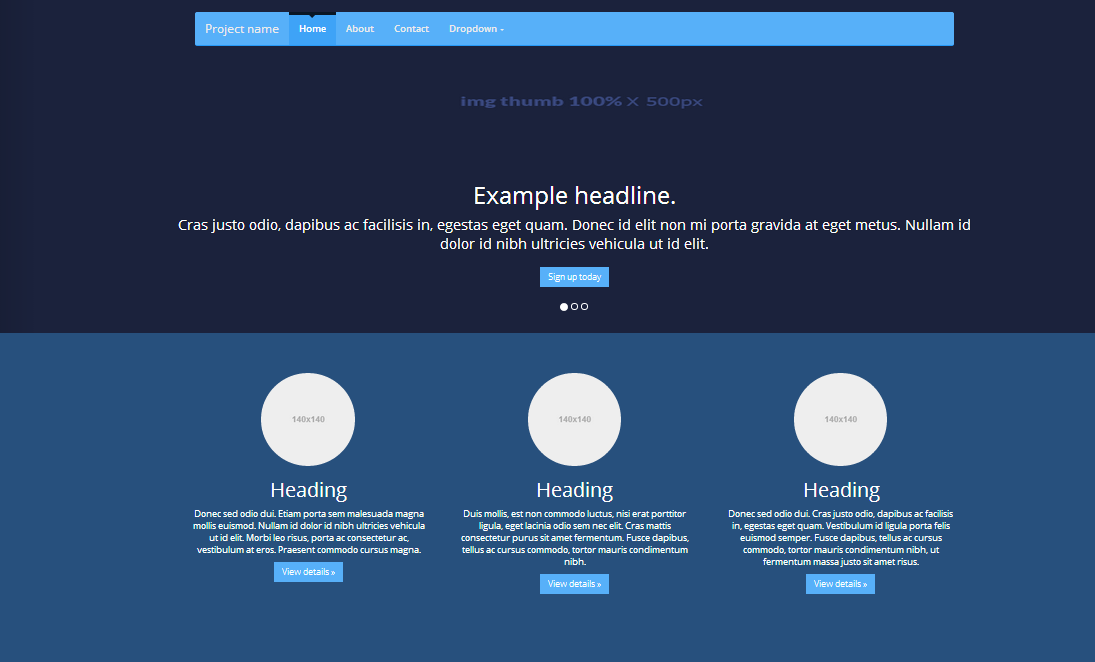 Bootstrap 3 Template - Dron Theme