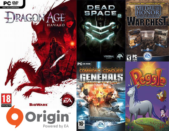 Dragon Age: Origins - Dead Space 2 - C&C:Generals 5 игр
