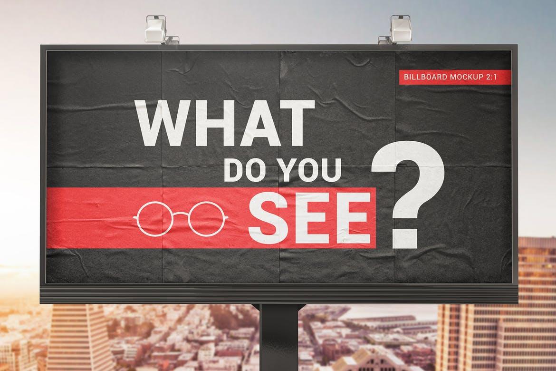 Billboard With Glued Paper Effect Mockups 2019