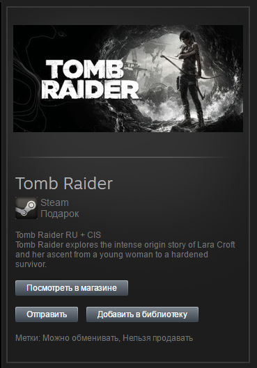 Tomb Raider 2013 (Steam, Gift, ROW or RU/CIS?)