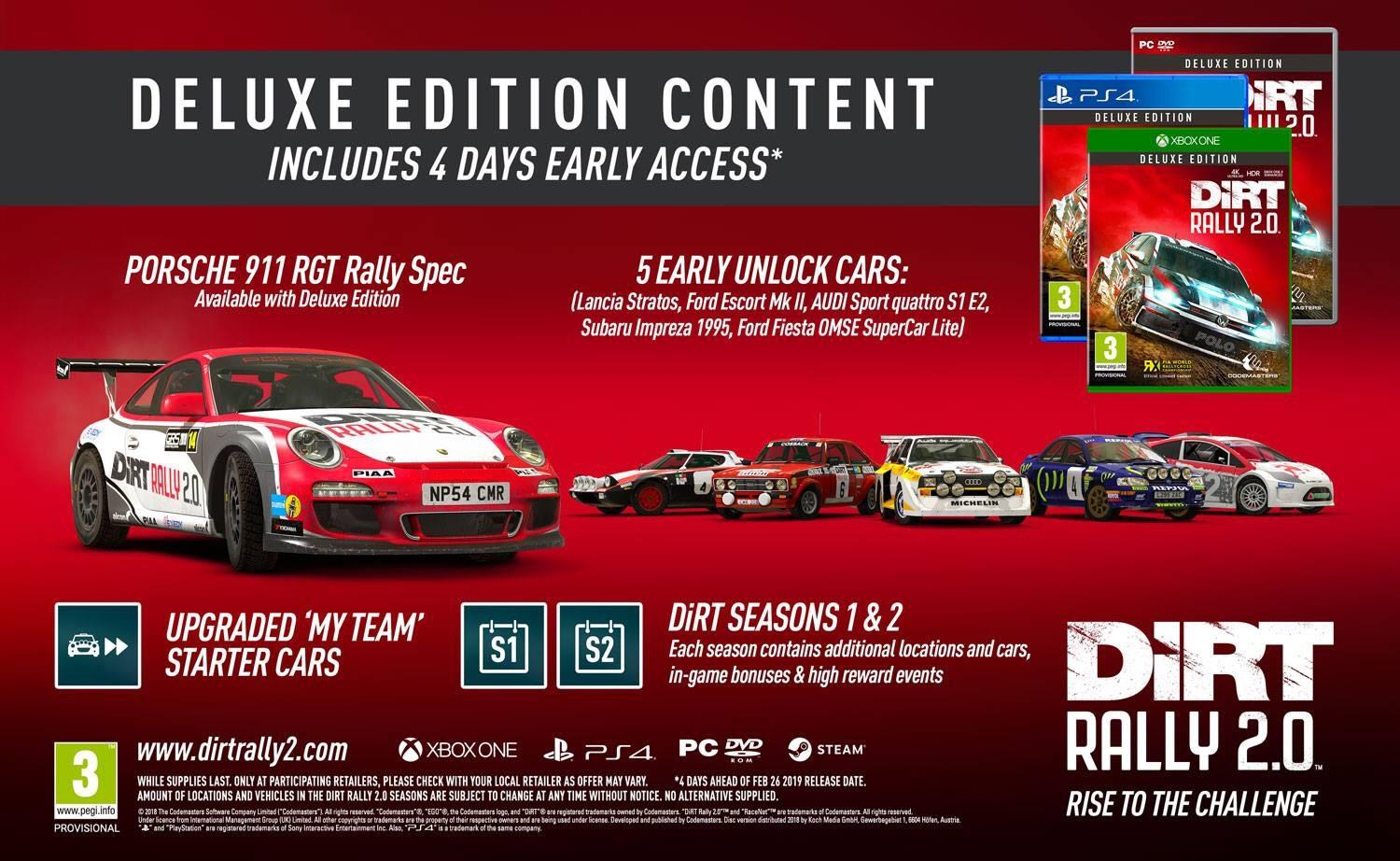 DiRT Rally 2.0 Deluxe Edition (Steam RU)✅ 2019