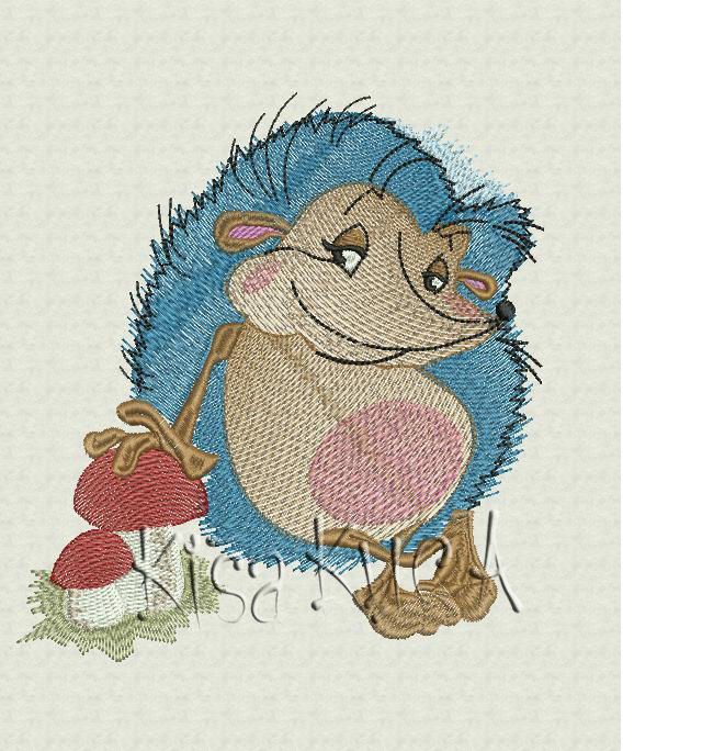 Design for embroidery machines BROTHER Hedgehog