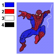 Design for embroidery machines BROTHER Spider Man