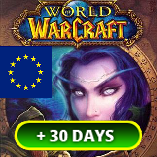 World of Warcraft EU +30 days EURO Time Card 🔑 | key