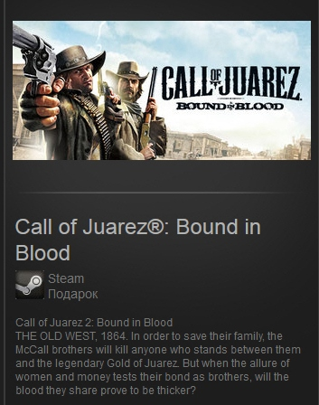 Call of Juarez: Bound in Blood (steam gift Free ROW)