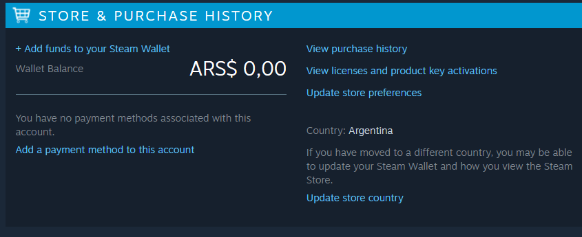 Steam Argentina Fresh Steam Account + mail change