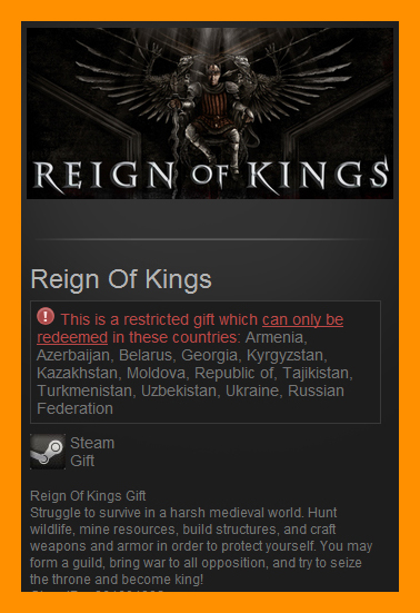 Reign Of Kings (Steam Gift / RU CIS) Early Access game