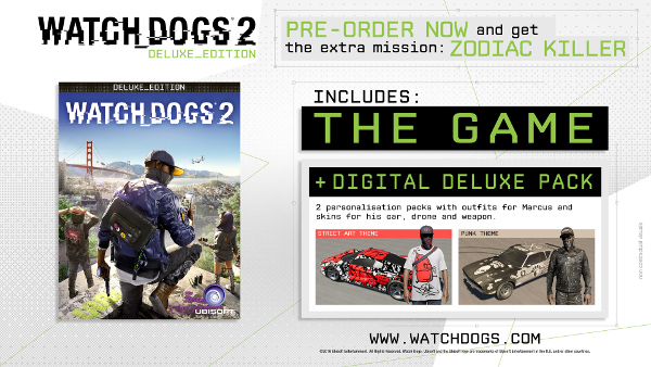 Watch Dogs 2 Deluxe Edition (SteamGift | RU+CIS) + GIFT
