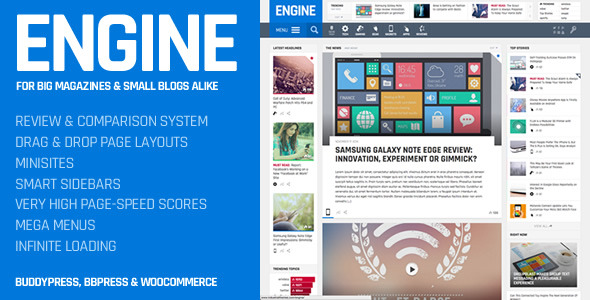 Engine 1.8 Themeforest WordPress Russian translation