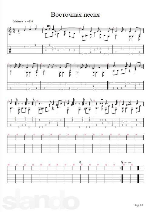 Sheet Music for Guitar