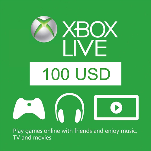 XBOX Gift Card Code $100 USD. US Region