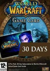 World of Warcraft Time Card EUROPE 30 Days WoW