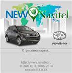 Start screen for Toyota RAV4 New Navitel