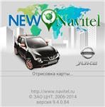 The start screen for the Nissan Juke New Navitel