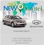 Start screen Hyundai Elantra for New Navitel