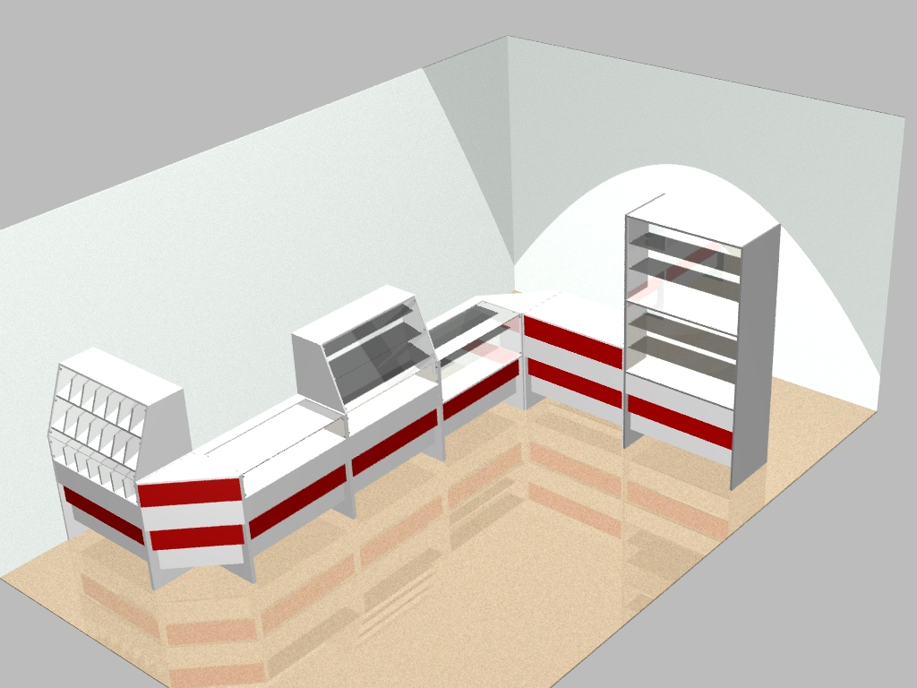 AutoCAD 3D models of commercial furniture