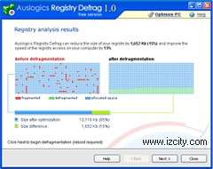 Defragmenting the registry - the program Registry Defrag RU